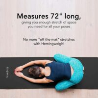 HemingWeigh 1 inch Thick Yoga Mat – 72 Inches Long